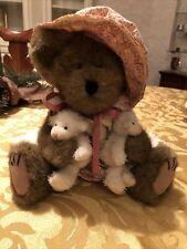 Boyds Bears Plush Teddy Bear Peep And Friends With 2 Little Bears & Tags