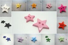 B599-10pcs 13-17mm LITTLE BABY STAR SHAPE PLASTIC ITALIAN FLAT BUTTONS-CHRISTMAS