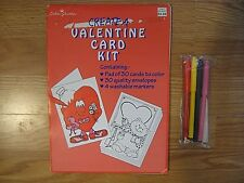 Create A Valentine Card Kit 30 Cards to color Plus Envelopes and 4 Markers