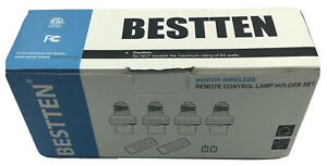 Bestten Remote Control Lamp Holder Set Set of 4 with Remote NIB