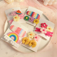 3Pcs Girls Baby Fruit Hair Clips Snap Kid Hairpin Barrettes Hair Bow Accessories
