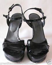 "Stuart Weitzman Black Patent Leather 5"" Stiletto Heels, Sz 8-M"