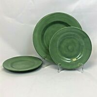 ODD LOT 3 PIECES TABLETOPS UNLIMITED CORSICA SAGE GREEN DINNER SALAD PLATES
