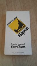 Blockbuster Video Kidprint VHS Tape --- RARE --- FREE Shipping