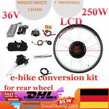 "LCD 28"" 250W Elektro-Fahrrad Umbausatz E-Bike Conversion Kit für Hinterrad 36V"
