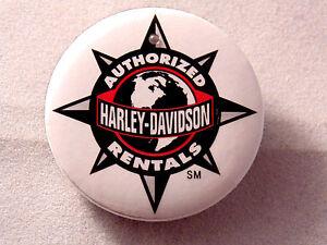 Harley-Davidson Authorized Rentals Button Pin Motorcycle Collectible Memorabilia