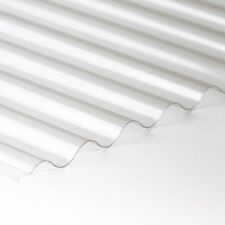 8/3 Iron Profile Clear  PVC Sheet Corrugated  1mm thick 2440mm x 660mm