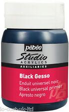 PEBEO ARTIST STUDIO ACRYLIC AUXILIAIRES BLACK GESSO UNIVERSAL PRIMER 500ml POT