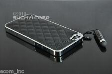 Lot of 5 Black Genuine Leather Hard Luxury Case  iPhone SE 5 W/ Films & Stylus