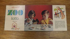 "VTG ""ZOO LOTTO"" Edu-Cards Game Animal/Bird Learning Toy 1970 NOS"