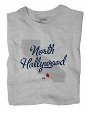 North Hollywood California CA Calif T-Shirt Los Angeles MAP