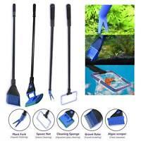 Fish Tank Aquarium Cleaning Kit Glass Brush Fishnet Magnetic Cleaner Tools 5 in1