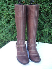 PRINCIPLES BROWN DISTRESSED WAXY LEATHER  KNEE HIGH RIDING STYLE  BOOT 5 /38