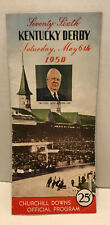 1950 Kentucky Derby Official Horse Racing Program