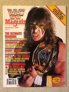 November 1988 WWF Magazine THE ULTIMATE WARRIOR Cover! vintage wwe wrestling