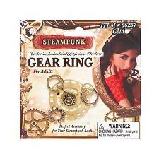 Ladies Victorian Fancy Dress Gothic Steampunk Gear Cog Costume Jewellery Ring