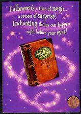 Halloween Card Hocus Pocus Magic Book Stars -  GLITTERED  - Greeting Card - NEW