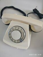 Vintage rotary dial Telephone made in the USSR Russian Phone