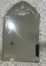 """Antique Vintage Art Deco Reversed Etched Floral Frameless Wall Mirror 27.5�x16"""""""