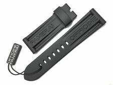 Genuine Officine Panerai 24/22mm Black Caoutchouc Rubber Watch Strap Brand New