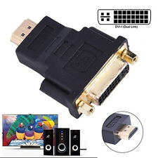 Dual Link Dvi-i DVI Female to HDMI Male Video Adapter Monitor Cable Converter