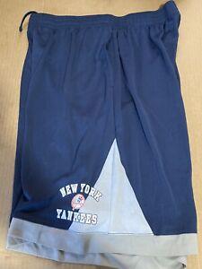 new york yankees stitches mens sweatpants shorts blue xl activewear