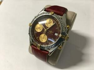 Breitling Automatic Chronograph 18k gold-steel wristwatch ref.81950