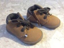 NEW NEXT BROWN SUEDE DESERT ANKLE BOOTS ZIP UP SHOES INFANTS UK SIZE 3