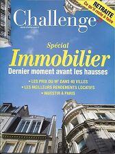 CHALLENGES N°497 10 NOVEMBRE 2016  SPECIAL IMMOBILIER_HP_TRICOIRE_TOURISME PARIS