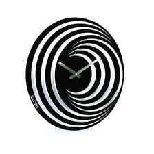 Metal Wall Clock Modern Unique Large Black Hypnosis Home Decor FREE SHIPPING