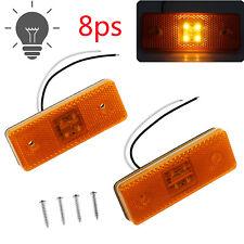 8 stk LED Seitenmarkierungsleuchten Seitenleuchte Anhänger Begrenzungsleuchten