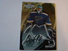 2002-03 Signature # 178 Curtis Sanford Autograph Card St. Louis Blues (B23)