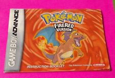 Pokemon FireRed - Nintendo Game Boy Advance Instruction MANUAL ONLY -No Game