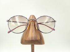 Vintage Tura Purple Marble Metal Oval Eyeglasses Sunglasses Frames Japan