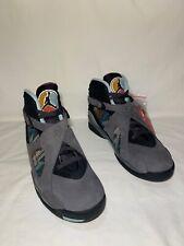 "Air Jordan 8 Retro Pendleton ""N7"" Men's Size 11.5 THUNDER GREY/BLK CQ9601 001"