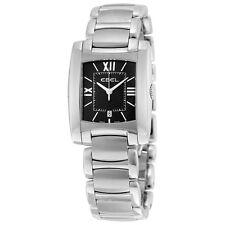 Ebel Women's Brasilia Steel Watch Iridescent Black Dial 1215773 - NEW!