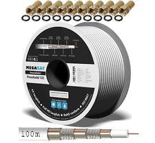 sat kabel 100m 135 dB Megasat  Koaxialkabel Antennen Kabel  FULL HD+ Sky 4K 3D