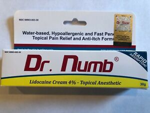 Dr. Numb 4% Lidocaine Topical Anesthetic Numbing Cream