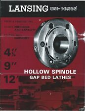 Machine Tool Brochure - Lansing - Hollow Spindle Gap Bed Lathes (TL157)