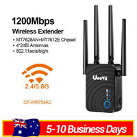 1200Mbps 5G Dual Band Wireless Range Extender WiFi Repeater Router 4 Antenna AU