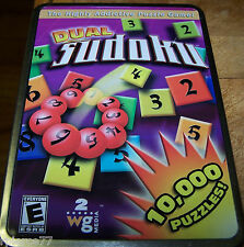 2 wg Media - DUAL SUDOKU - 10,000 Puzzles - Play on PC or Print! - Rated E - EUC