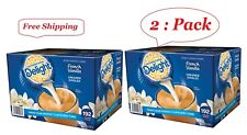 2 Pack International Delight French Vanilla Creamer 192 Ct (Total ct 384)