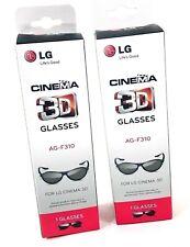 LG Cinema 3D Glasses AG-F310 2 Pairs NIB