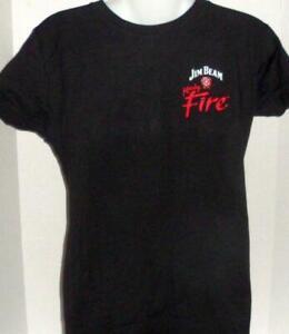 JIM BEAM FIRE WHISKEY BOURBON ICEHOUSE SUMMERVILLE SC GRAPHIC T-SHIRT LARGE