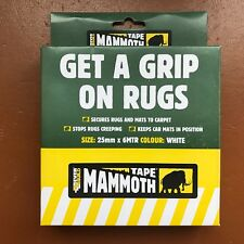 EVERBUILD MAMMOTH TAPE GET A GRIP ON RUGS 25MMX6MTR SECURES MATS RUGS TO CARPETS