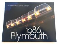 1986 Plymouth 68-page Car Sales Brochure Catalog  - Reliant Turismo Caravelle