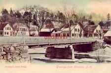 pre-1907 NORTHFIELD STREET BRIDGE, GREETINGS FROM HINSDALE, NH.