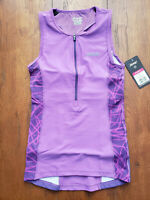 ZOOT Women's Small Performance Tri Top Purple Sleeveless Shirt Singlet Triathlon