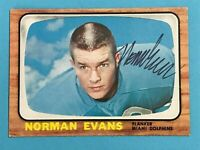 Norm Evans Signed RC 1966 Topps #77 AUTO 1972 Undefeated Miami Dolphins *READ*