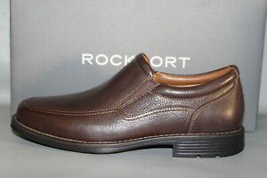 Men's Rockport Adiprene Brown Leather Slip-on Casuals
